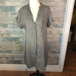 100% linen dress size M
